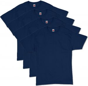 d9550db6485ebf Hanes Men's Comfortsoft T-Shirt (Pack Of 4),Navy,Large