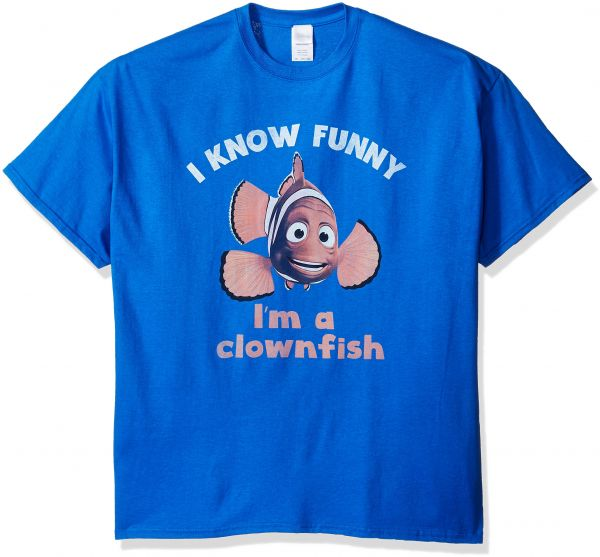 6801a3b7 Disney Men's Big and Tall Finding Nemo Funny How T-Shirt, Royal, 2XL | KSA  | Souq
