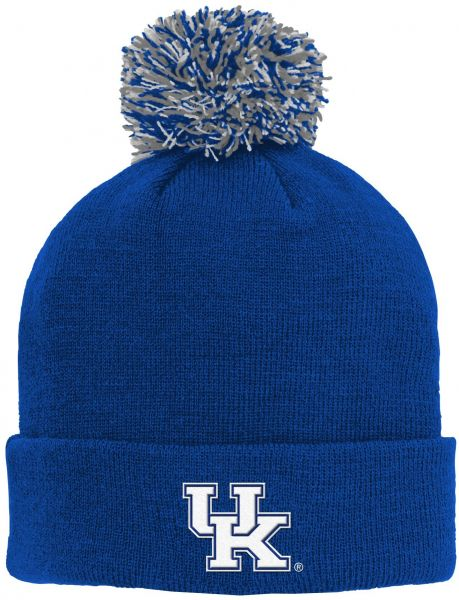 edda110f74e ... sweden ncaa kentucky wildcats kids primary basic cuff knit hat w pom  royal kids one size coupon for lyst nike ...