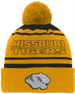 official photos 2d96f 85f8f NCAA Missouri Tigers Youth Boys Reflective Cuff Knit Hat w Pom, Black,  Youth One Size