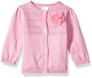 1184e96cf Gymboree Baby Girls Long Sleeve Classic Cardigan, Pink Pointelle Knit,  18-24 Mo