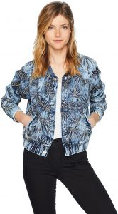 78c188a812b GUESS Women s Burnished Bomber Jacket Outerwear