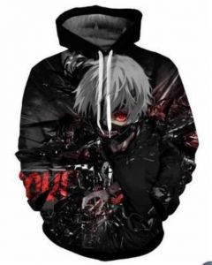 748567a69a1ed Tokyo Ghoul printing fashion cotton hoodie round collar full sleeves casual  sweatshirt sport hoodie