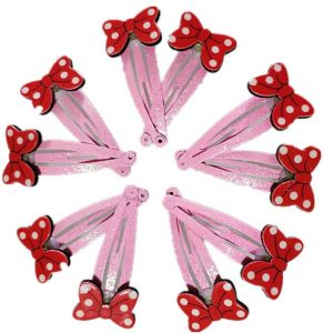 aa72818dabb0 10 PCS Mini Hair Bow Hair Bows with BB Clips for Baby Girls Toddlers Kids  in Pairs