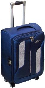 ac526dbb0f7d HighFlyer 1367-24 Inch Trolley Hard Luggage Bag Set - Blue