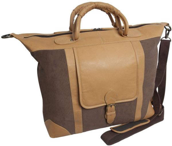 Canyon Outback Titus Canyon 18-Inch Leather and Canvas Duffel Bag ... 6a0b47ce7f585