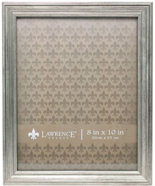 Lawrence Frames Sutter Burnished Picture Frame 8 By 10 Inch Silver