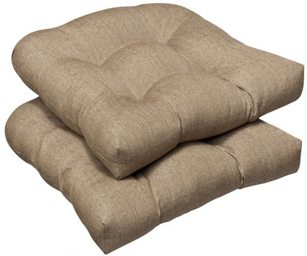 Pillow Perfect Indoor Outdoor Wicker Seat Cushion Set Of 2 With