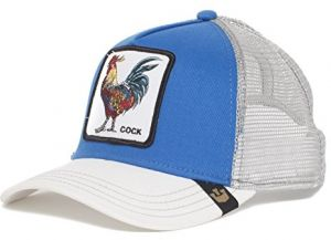 1c072727 Goorin Bros. Men's Animal Farm Snap Back Trucker Hat, Royal Blue/White  Rooster, One Size
