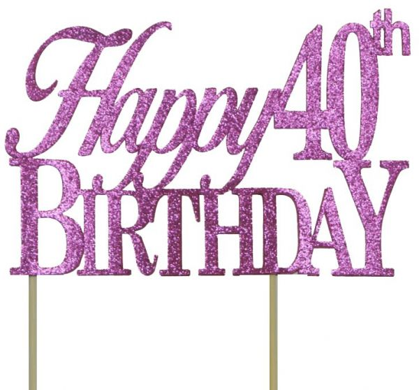 All About Details Pink Happy 40th Birthday Cake Topper Souq Uae