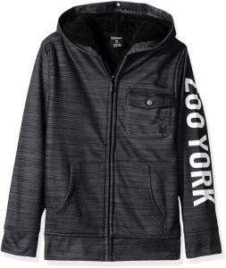 Zoo York Big Boys  Hoodie with Sherpa Lining 5a39f4a6e