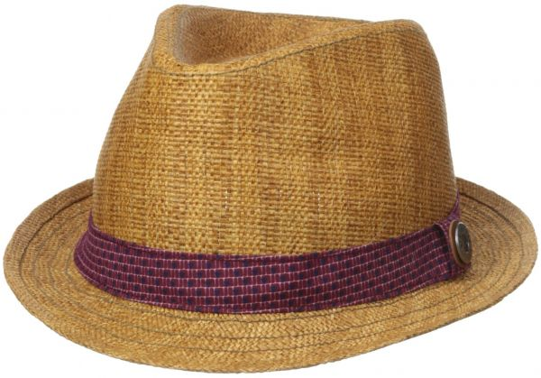 00e9823f9fd Ben Sherman Men s Straw Trilby with Pattern Band