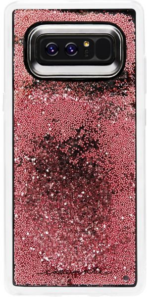 buy online 5f9a7 3883f Case-Mate Note 8 Case - WATERFALL - Rose Gold - Cascading Liquid Glitter -  Military Drop Protection - Protective Design for Samsung Galaxy Note 8 - ...