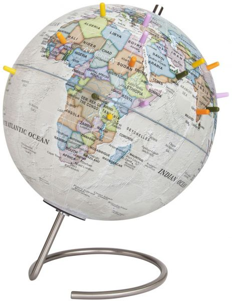 World Map With Magnetic Pins.Waypoint Geographic Magneglobe Date World Globe With Stand Includes