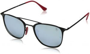 552974e015 Ray-Ban Steel Unisex Non-Polarized Iridium Square Sunglasses