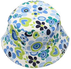 f305d5ac Kids Sun Hat Breathable Sun Protection Hat 2-6 Years Baby Cotton Blue Flower