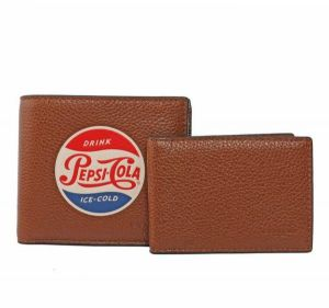 00c01d002aee Coach F26085 SAD Men s Pepsi-Cola 3IN1 Compact ID Motif Leather Bifold  Wallet - Saddle