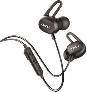 QCY E2 Sports Bluetooth Earphones Wireless Sweatproof Headset Music Stereo Headset Bluetooth V4.2 with Microphone