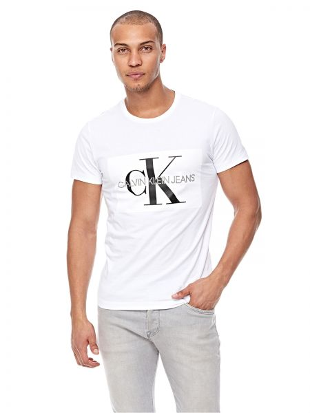 comprare popolare 30665 eda81 Calvin Klein Jeans T-Shirt for Men - White Price in Saudi Arabia ...