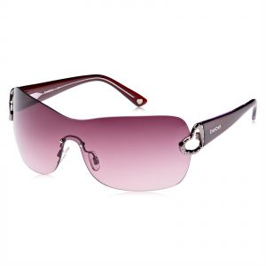e266549b67d Bebe Women s Rimless Purple Acetate Sunglasses - BB7012-1290001