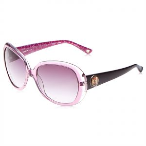 5137bc895fa Bebe Women s Rectangle Purple Acetate Sunglasses - BB7056-5817535