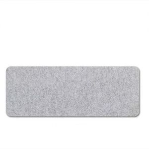 Large grey mouse pad Extended Gaming Mouse Pad Desk Pad Protector Office Writing Mat Felt Base (Light Gray)