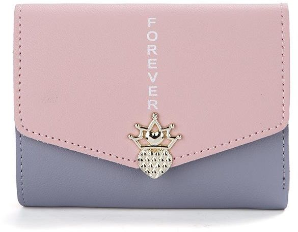 7e7d58875d Women Purse Top Layer Cow Leather with Zipper Coin Pocket Small Wallet  Triple-Fold Card Holder Purse