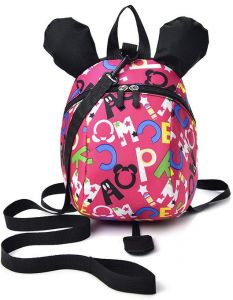 Mickey Backpack Baby Leash shoulder Bag With Safety Rein and Harness for  Kids 1-3 years old Baby Anti-lost Animal Package Toddler Cartoon Bag (Pink) 84bd5e77ced