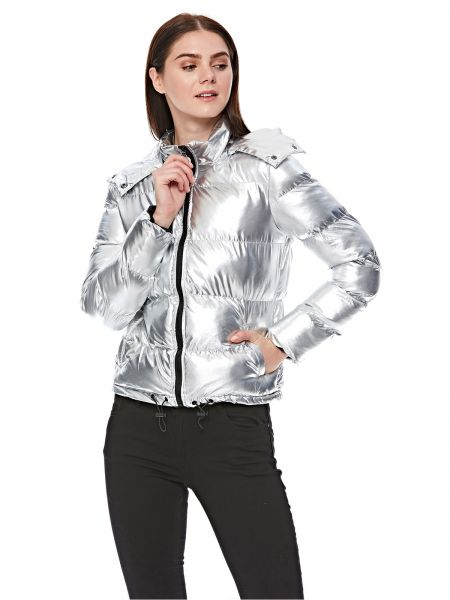 b3c9e117d Ik-Iconic Youth Puffer Jacket for Women - Silver