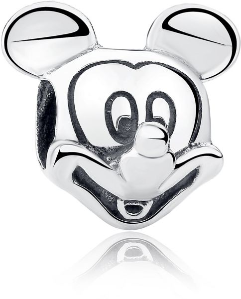 d75034425 925 Sterling Silver Bead Charms with Cubic Zirconia Mickey Crystal fits  Pandora Bracelets Charm | Souq - UAE