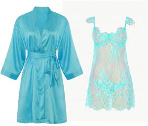 IngerT 4Pcs Gorgeous Bridal Silk Like Robe Set Babydolls for Women 768be33bf