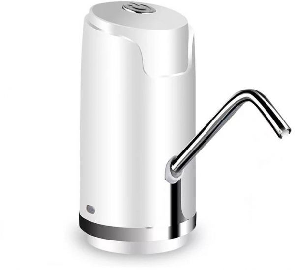 Water Pump Dispenser with Stainless Pipe | Rechargable Electric Gallon Bottle Drinking Button Switch | Easy to Carry | Perfect for Home and Outdoor