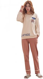 43c082ccbd Heypro Long Sleeve Tunic Pant Pajama Set for Women -L