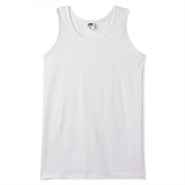fbb77675ab7764 Fruit Of The Loom Tank Top Sportswear for Men - White