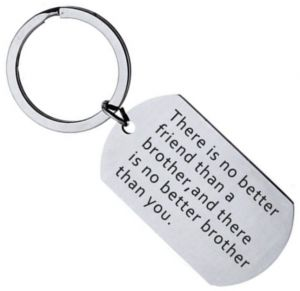 1251b412f7c There is no better friend than a brother Stainless steel Keychains Family  Love key chain Jewelry Gifts Keyring