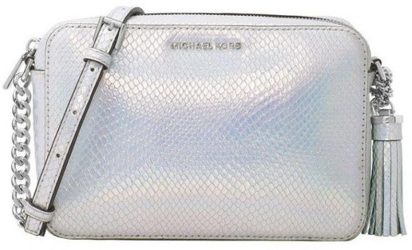 868a5d70254d Michael Kors 32H7SGNM2E GINNY Iridescent Embossed Leather Crossbody Bag -  Rainbow