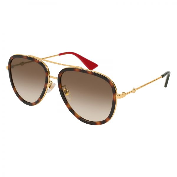 8a15bb9b484 Gucci Aviator Sunglasses for Men - brown Lens