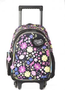 bb2ae5cc90bde Violetta Violetta School Trolley Bag for Girls - Black