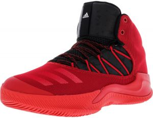 the latest f6085 42c65 Adidas Mens Infiltrate Scarlet  Black White High-Top Basketball Shoe -  9.5M