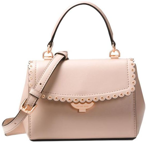 abebfb7908ee MICHaEL KORS ava Extra-Small Scalloped Leather Crossbody - Soft Pink ...