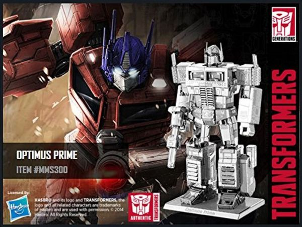 fe8affbd5bb849 Fascinations Metal Earth Transformers 3D Metal Model Kits Set of 4-Optimus  Prime
