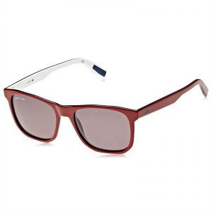db56621fb8f07 Lacoste Rectangle Sunglasses for Men - Dark Brown Lens