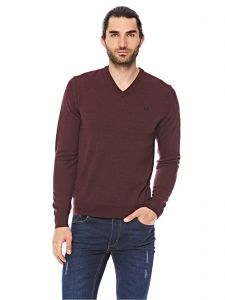 1422521312 Fred perry Classic V Neck Polo For Men - Wine