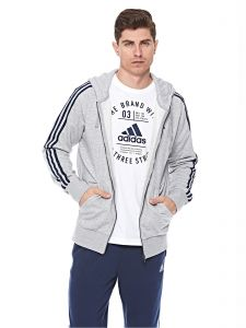 21ca53979c8ad adidas Essential 3S Full Zip French Terry Jacket For Men