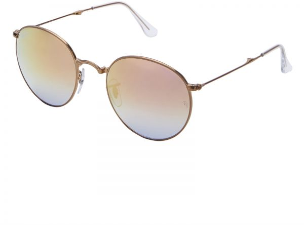 81ceaef5c4 Ray-Ban Unisex Round Metal Folding Copper Gradient Flash Sunglasses - RB3532  198 7Y 53-20-140mm