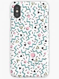 Back to the 80's eighties funky memphis pattern design iphone 11 case