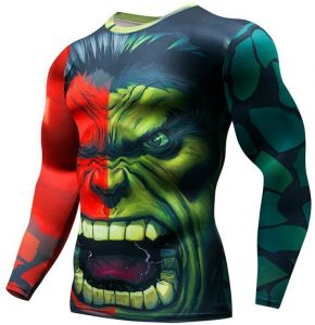 37b27d89c Cycling Fitness Base Layer Compression Shirt Men Anime Bodybuilding Long  Sleeve Crossfit 3D Super hero hulk printed tops cycling top Bicycle Clothing