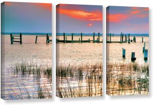 36 x 54 ArtWall 3 Piece George Zucconis Venice Canal Floater Framed Canvas Set
