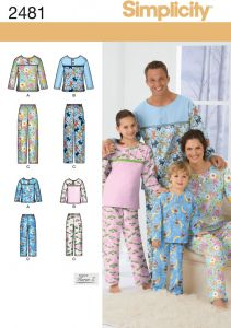 93cf8e833e0 Simplicity Karen Z Pattern 2481 Child, Teens and Adults Pants and Top  Nightwear Sizes XS-XL