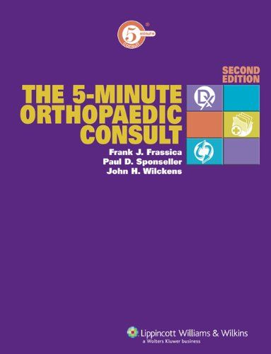The 5 Minute Orthopaedic Consult The 5 Minute Consult Series